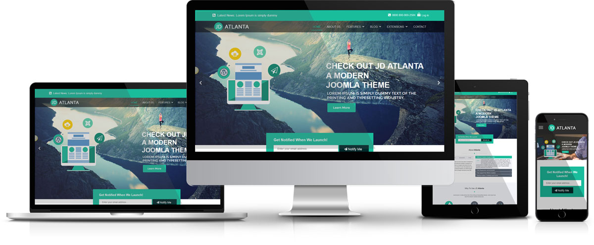 JD Atlanta Theme by JoomDev