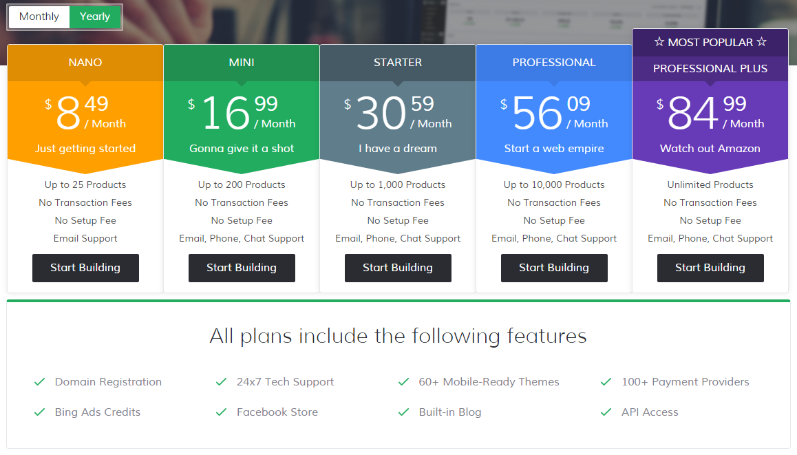 3dcart Pricing Plans