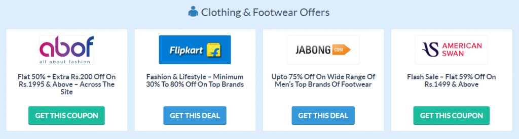 Clothing Footwear Coupons