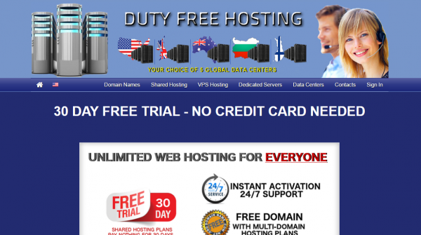 Duty Free Hosting Review