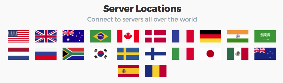 BulletVPN Server Locations