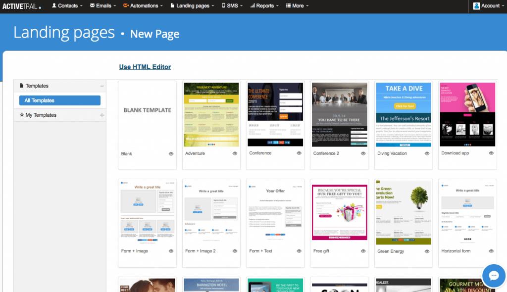 ActiveTrail Landing Pages