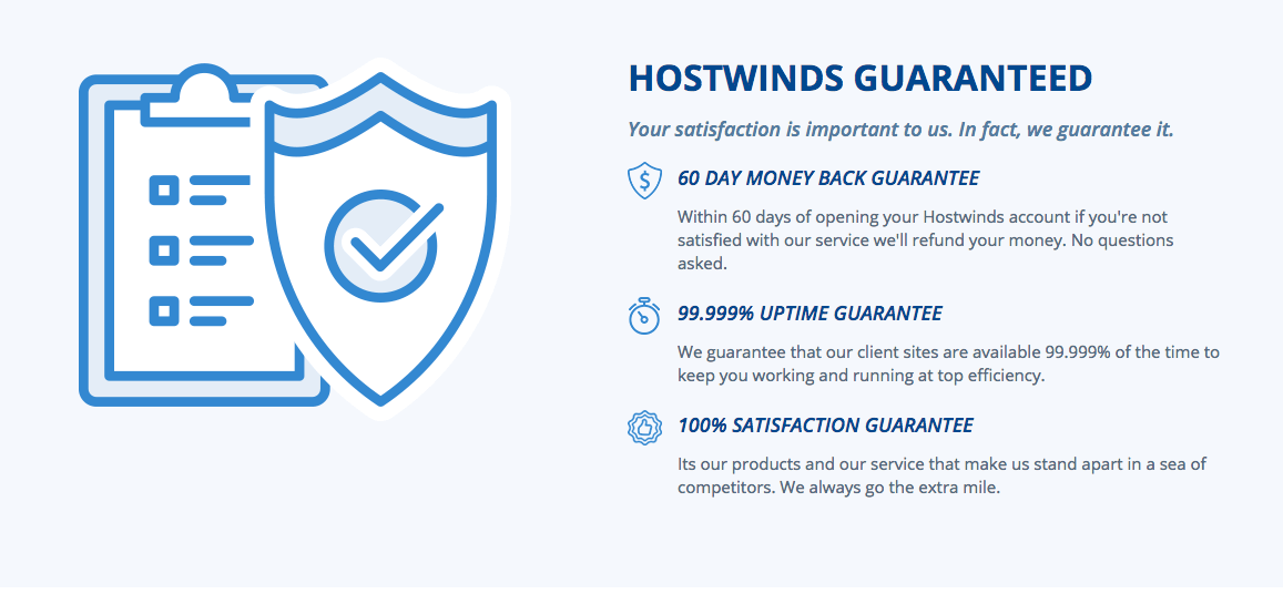 Hostwinds review - features
