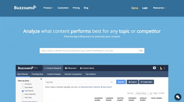 BuzzSumo Review 2016