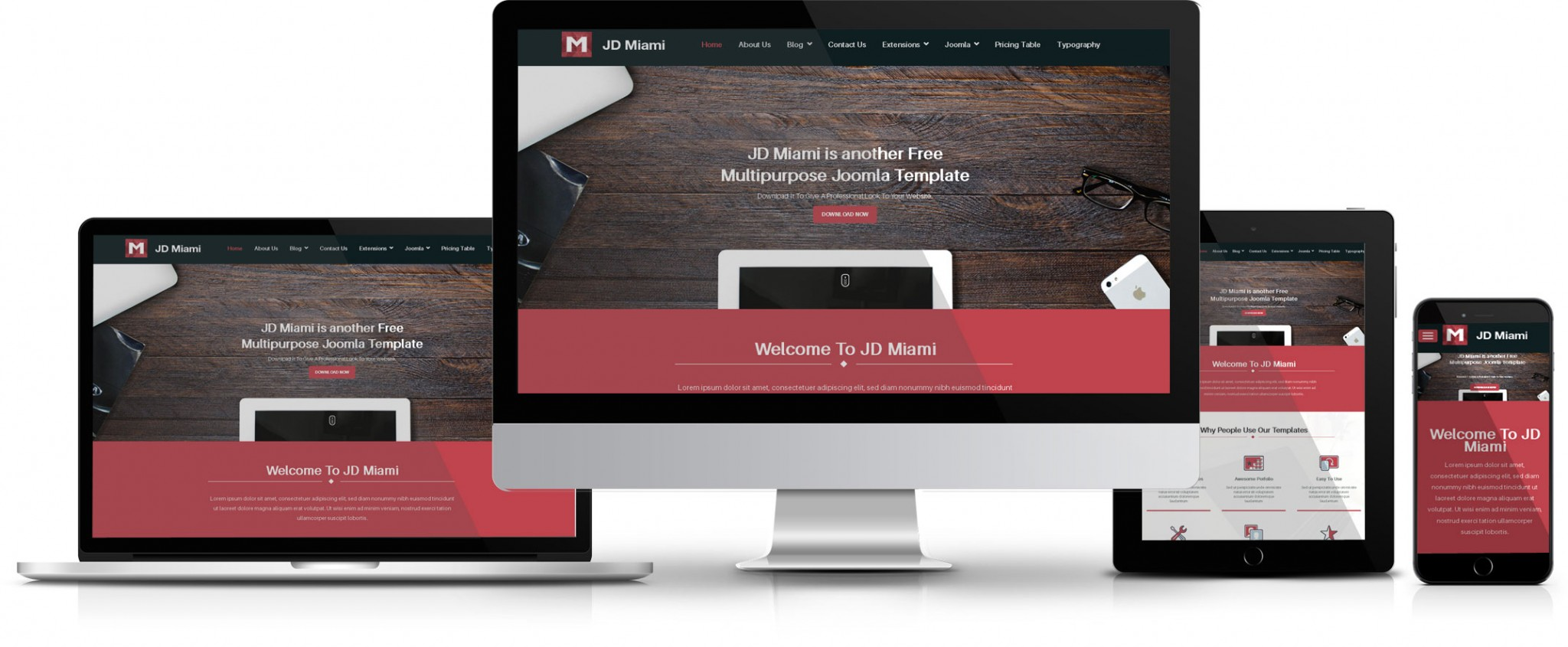 JD Miami Free Joomla Template