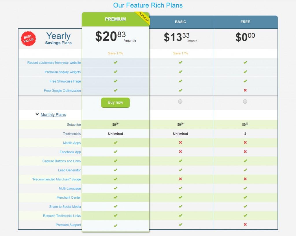 VocalReferences Pricing