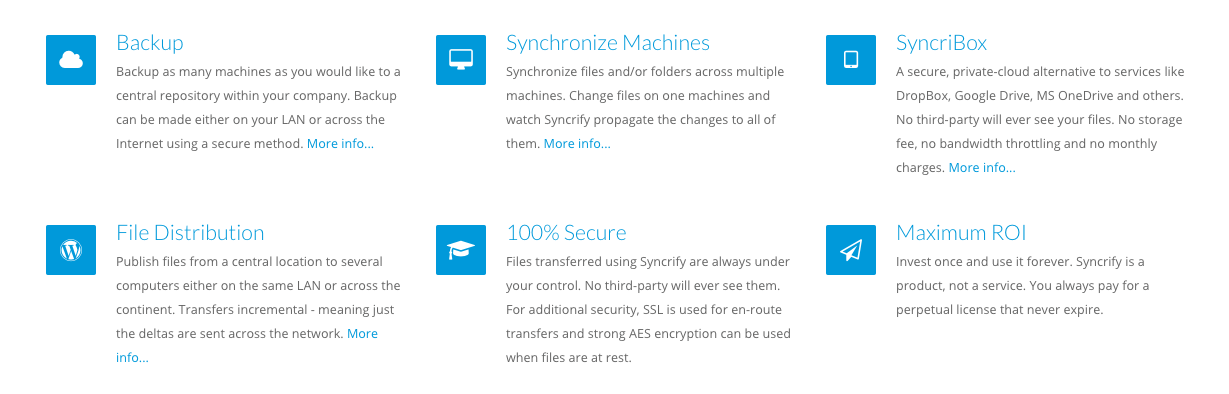 Syncrify Features