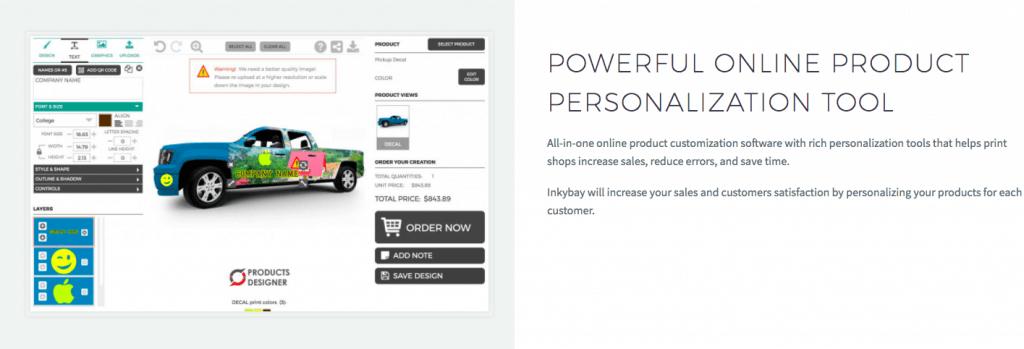 InkyBay-Product Customization Tool