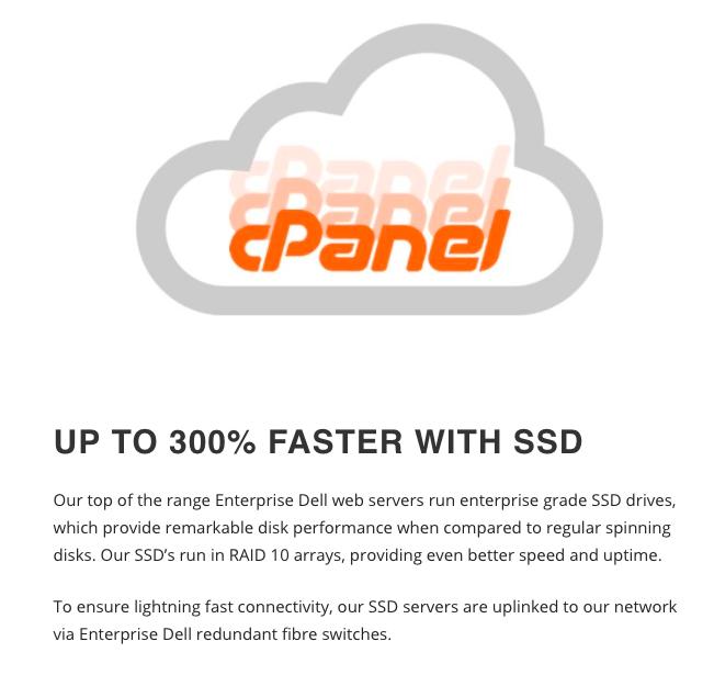 cPanel SSD Hosting