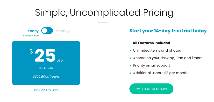 Sortly Pro Pricing