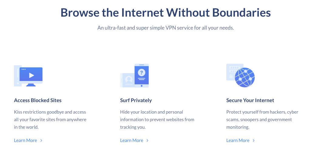 SaferVPN Features