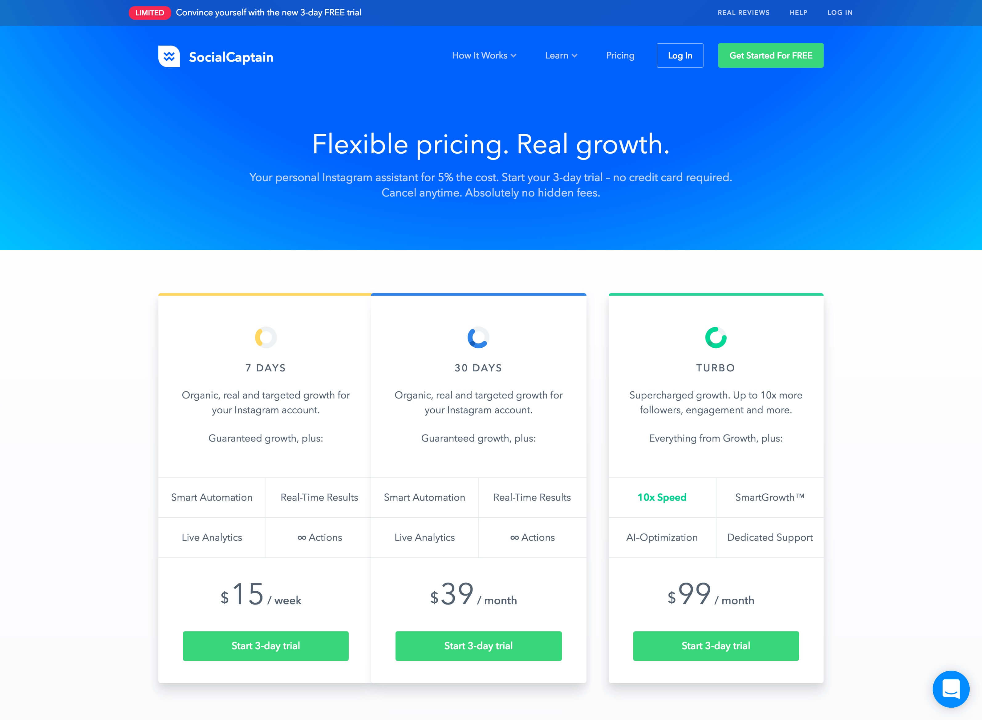 Social Captain Pricing