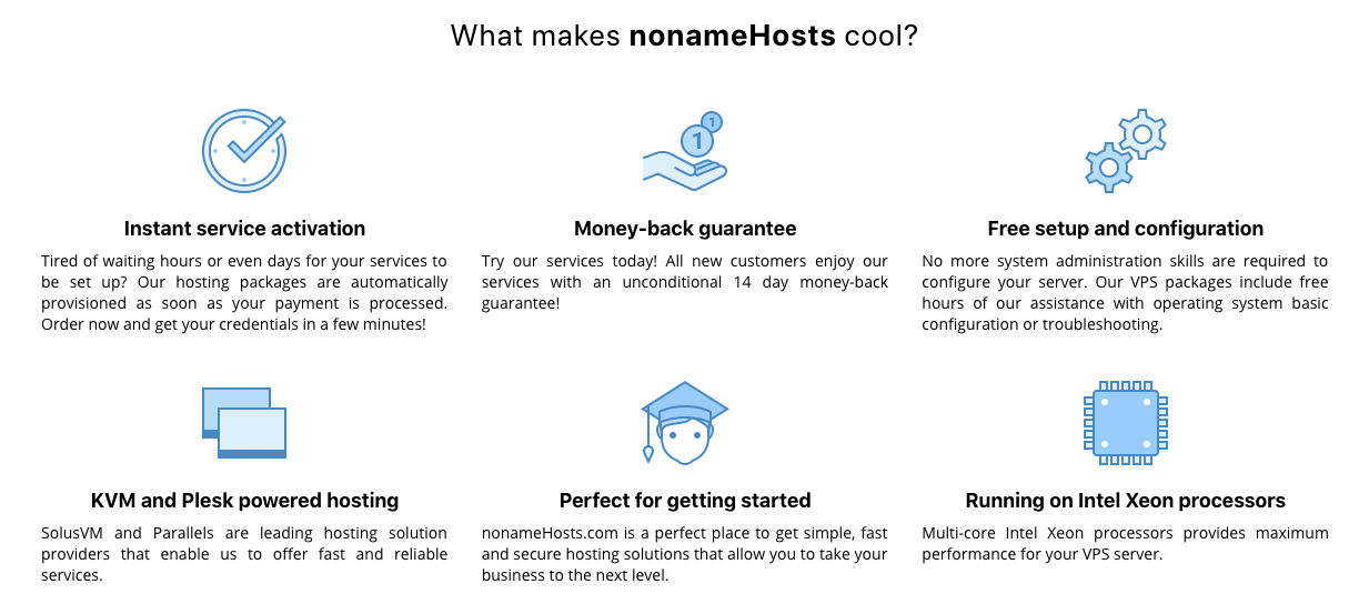 nonameHosts Review (Features)