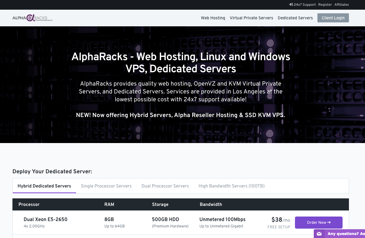 AlphaRacks Review : Pricing, Features, Pros, Cons & Expert