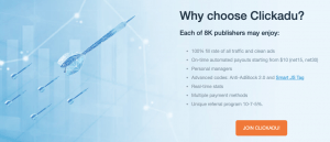 Why choose Clickadu (For Publishers)