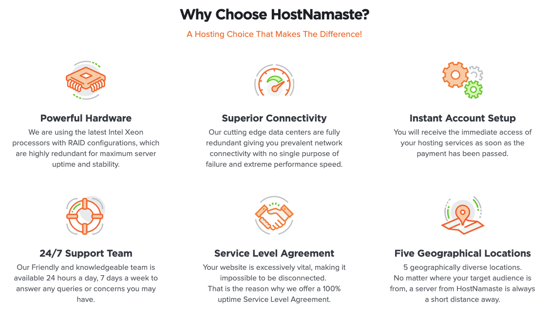 Why Choose HostNamaste