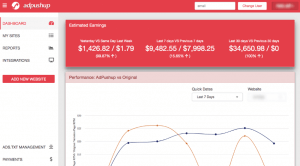 AdPushup Dashboard (Review)